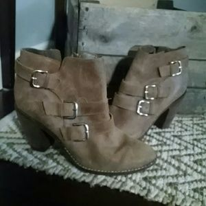 Dolce Vita DV suede leather buckle boots 8.5